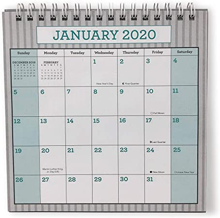 Amazon Com Desk Monthly Calendar For Year 2020 At A Glance Planner Calendars Office Calendar Table Pad Gray Green Office Products