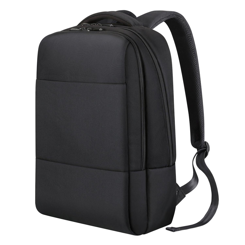 """REYLEO Zaino Per Computer Portatile da 15.6"""" Backpack laptop Zainetto per Uomo ideale per l'ufficio ed il lavoro, capienza fino a 18 L (nero)"""