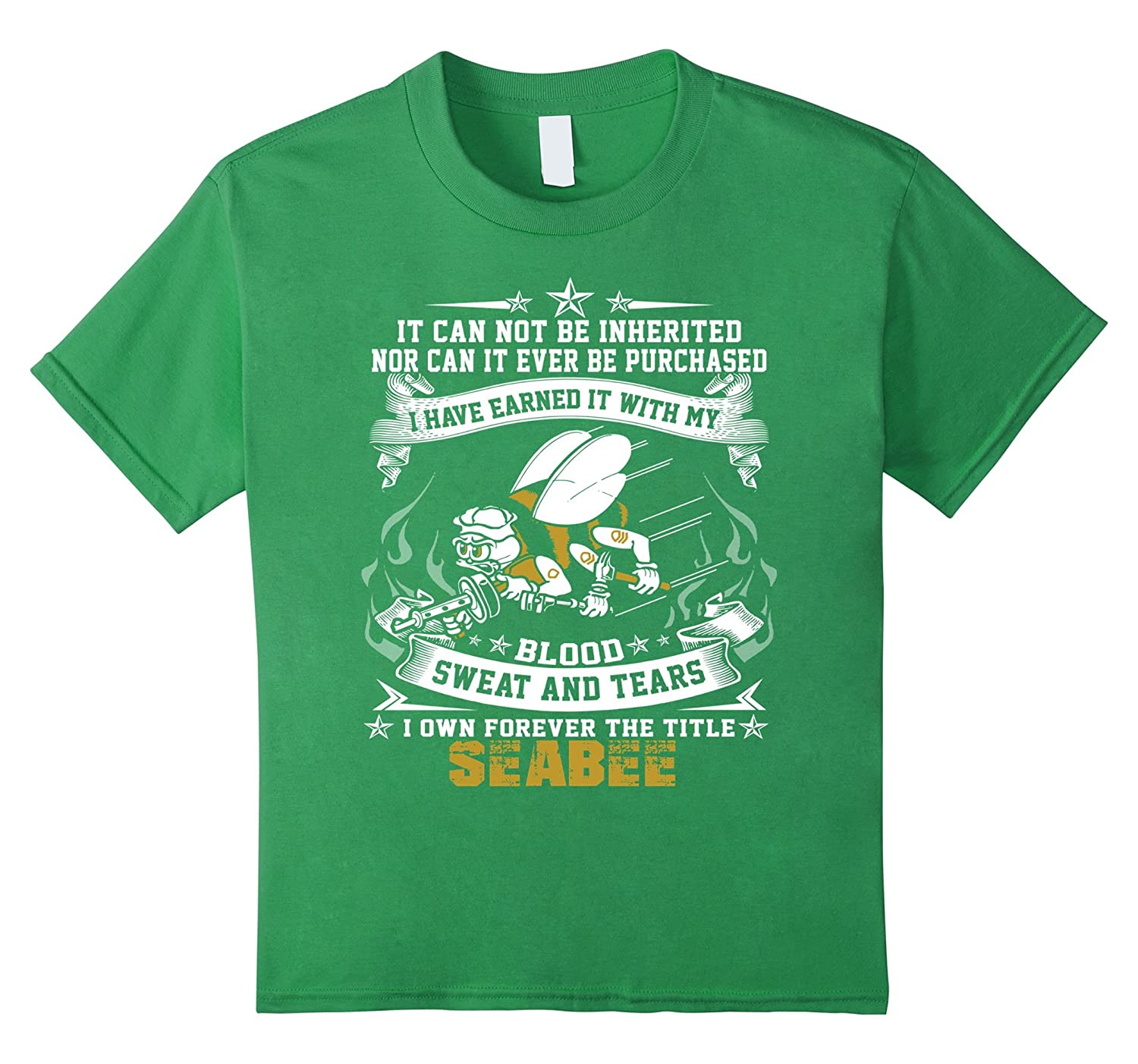 Womens Seabee Tshirt Medium Navy-Tovacu