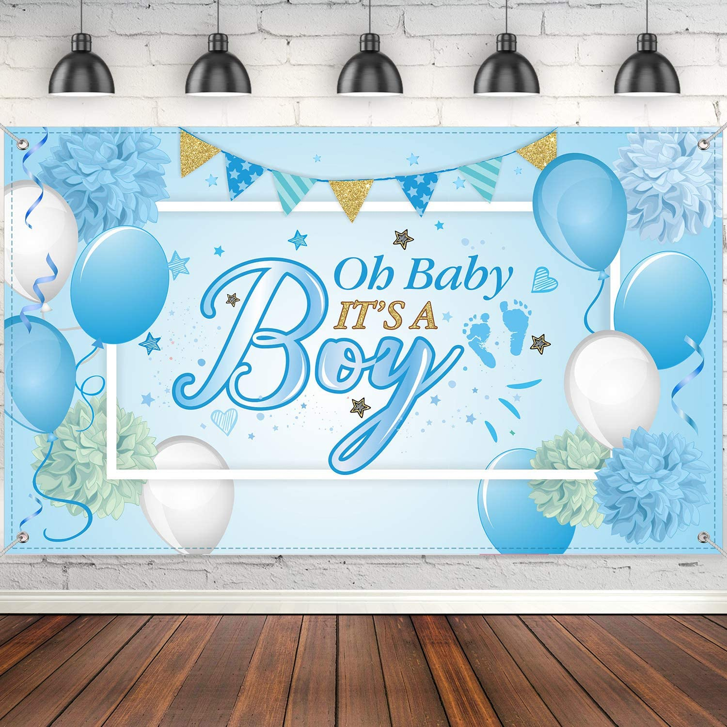 Amazon.com: Blulu Baby Shower Party Backdrop Decorations, Large Durable  Fabric Made Baby Shower Banner Backdrop Photo Booth Background for Boy's or  Girl's Baby Shower Party Supplies (Boy Style): Toys & Games