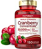 Horbaach Cranberry (30,000 mg) + Vitamin C 150 Capsules | Triple Strength Ultimate Potency | Non-GMO, Gluten Free…