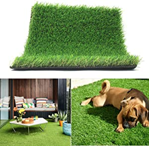 Realistic Thick Artificial Grass Turf 5FTX10FT(50 Square FT) - Indoor Outdoor Garden Lawn Landscape Synthetic Grass Mat - Thick Fake Grass Rug