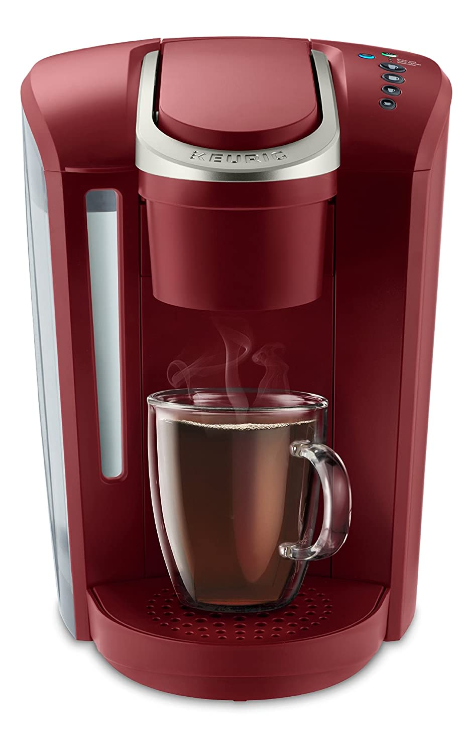 Keurig K-Select Single Serve K-Cup Pod Coffee Maker, With Strength Control and Hot Water On Demand, Vintage Red