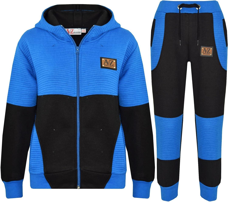 Kids Tracksuit Girls Boys Designer A2Z Project Zipped Top /& Bottom Jogging Suit