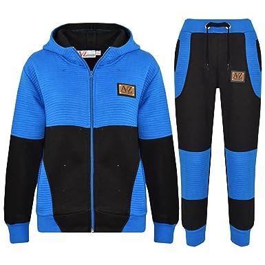A2Z 4 Kids® - Chándal - para niño Multicolor Negro y Azul 7-8 Años ...
