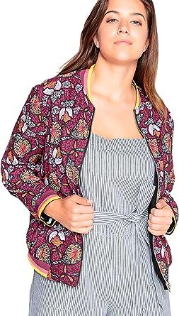 Amazon Com Roamans Chaqueta Bomber Para Mujer Talla Grande 28 Plus Clothing