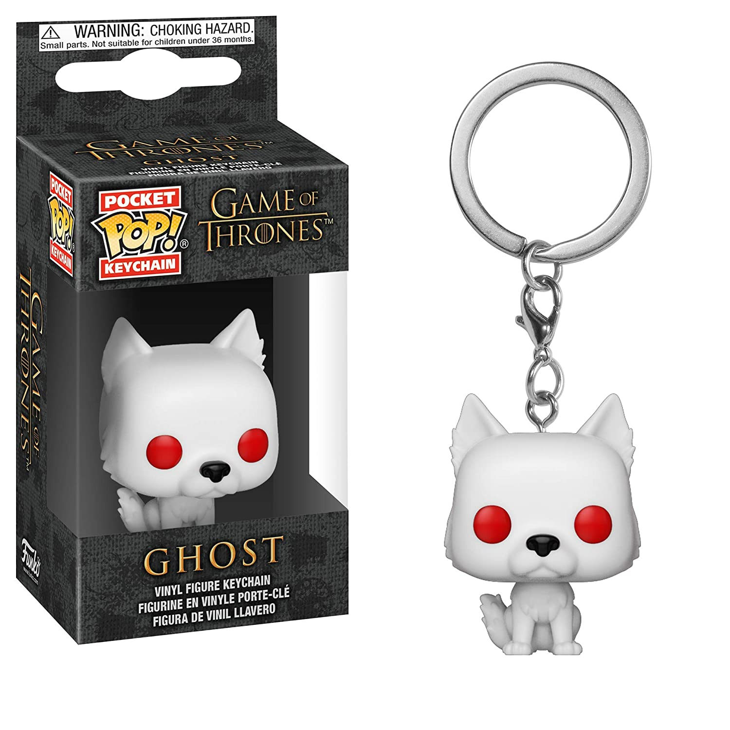 Funko Pop Keychain: Game Of Thrones - Ghost Collectible Figure, Multicolor - 34910
