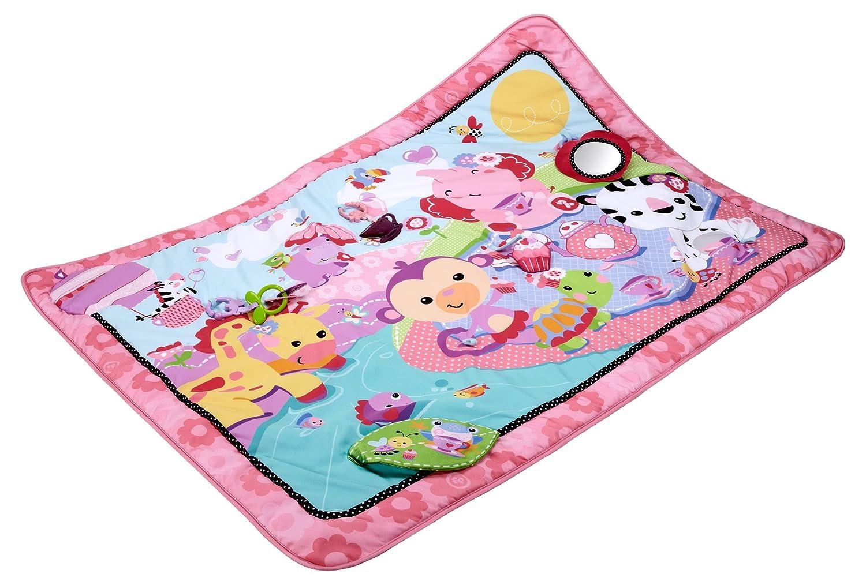 Fisher-Price BFL58 Große Spiel- und Krabbeldecke mit Tiermotiven und Babyspielzeug, 1 x 1.50 m, rosa   B00K7V7APA