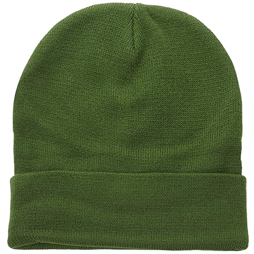 Falari Men Women Knitted Beanie Hat Cap Warm Solid Color Great for Winter  (1pc Army 3bb039e20b