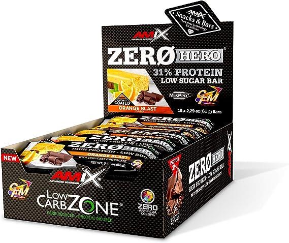 Amix Zero Hero Protein Bar 15*65 Gr: Amazon.es: Salud y ...