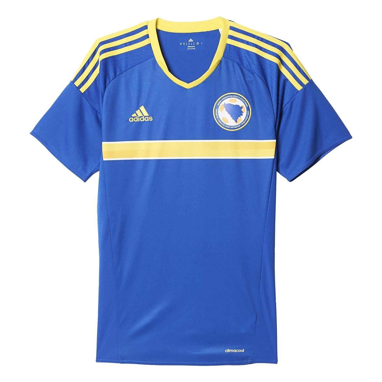 adidas FFBH H JSY - Camiseta Oficial 1ª Equipación Selección Bosnia  Herzegovina 2015 2016 para Hombre  Amazon.es  Zapatos y complementos 593dbf8b2c02e