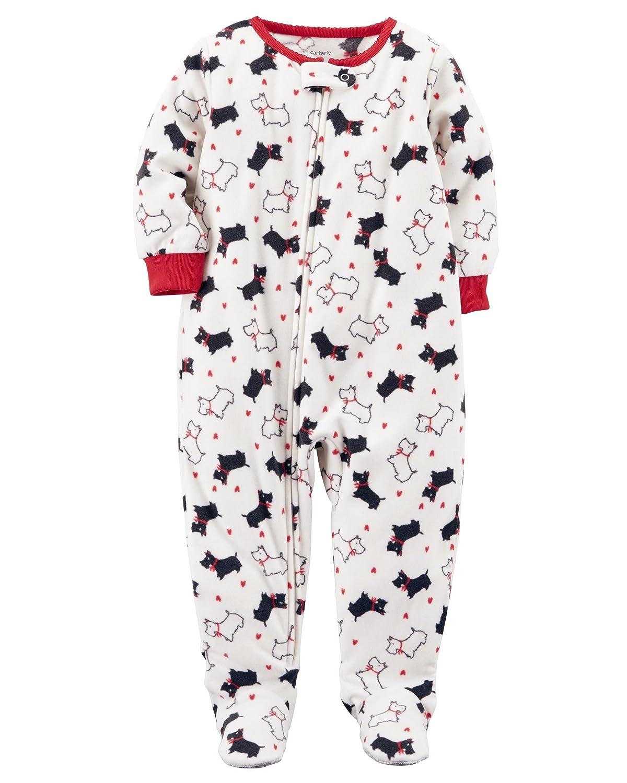 7e9bf1775672 Amazon.com  Carter s Carters Baby Girls One Piece Scotty Dog Fleece ...