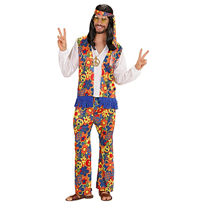 70s Costumes: Disco Costumes, Hippie Outfits UK - Mens Hippie Mens Costume Medium UK 40/42 for 60s 70s Hippy Fancy Dress £24.33 AT vintagedancer.com