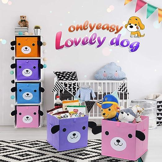 Amazon.com: Onlyeasy Cubos de almacenamiento de tela – Cesta ...