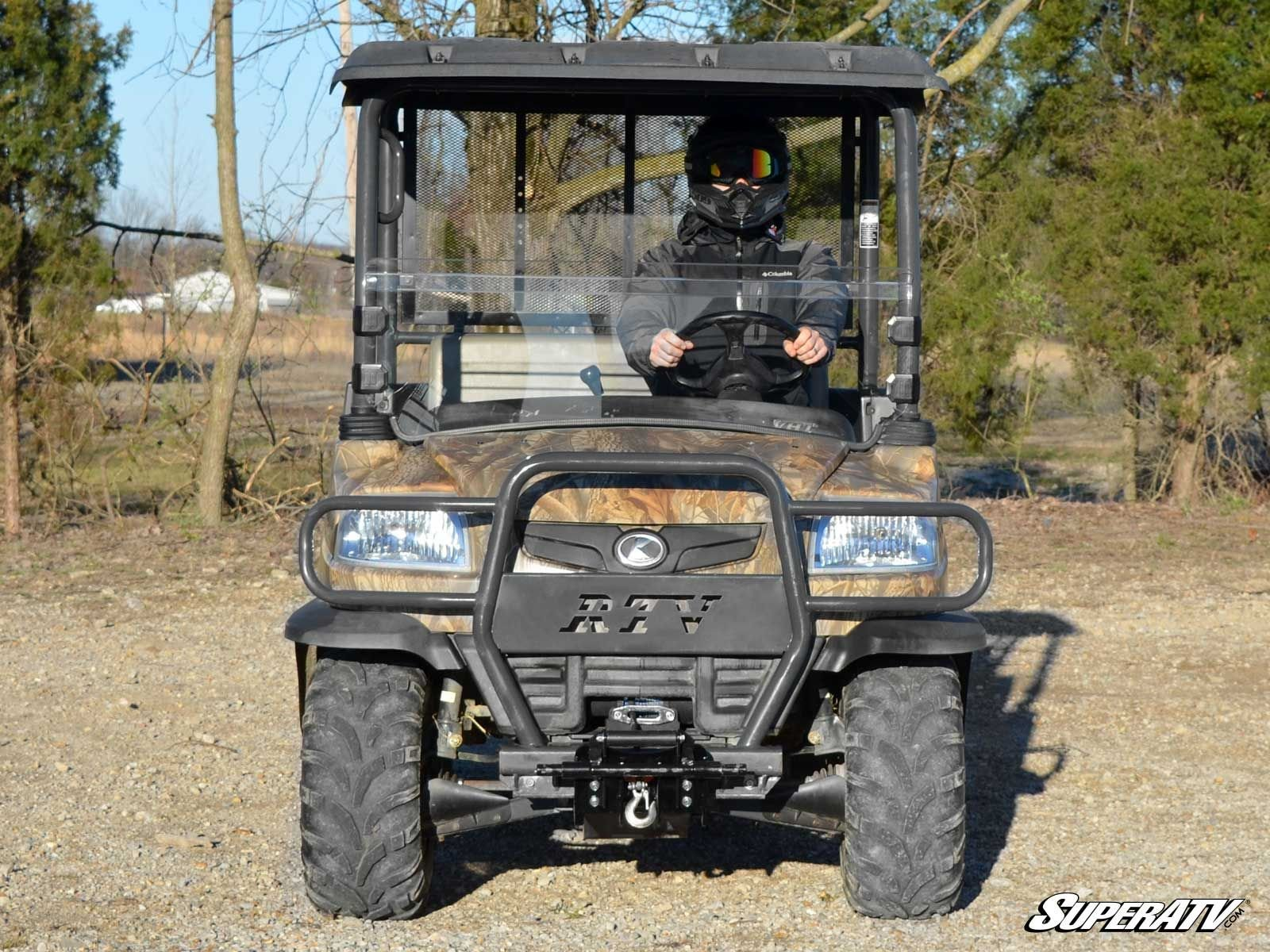 MADE IN THE USA! SuperATV Kubota RTV 900 Scratch Resistant Half Windshield and Free Unhinged ATV Hat! by Super ATV (Image #2)