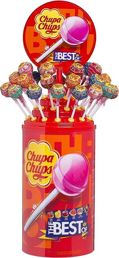 Chupa Chups Original, Caramelo con Palo de Sabores Variados, Tubo Icon Pack de 100 unidades de 12 gr. (Total 1.200 gr.): Amazon.es: Alimentación y bebidas