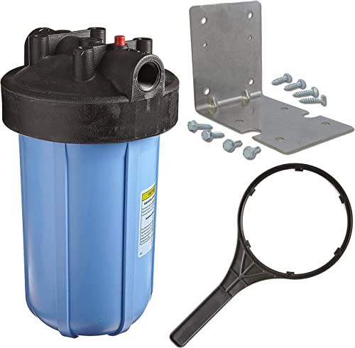 Pentek 1 Threaded 10 Genuine Big Blue Filter Housing Kit Complete with Bracket, Screws and Wrench 150237 150061 150296
