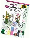 folia 11649 - Hotfoil II Designpapierblock, DIN A4, 12 Blatt