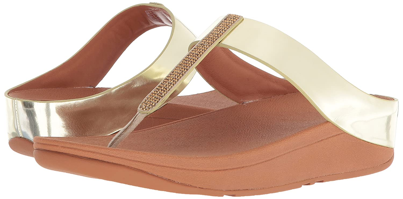 FitFlop™ Fino Damenschuhe Fuß Post Sandalen Sandalen Sandalen Metallisch 0b4bb5