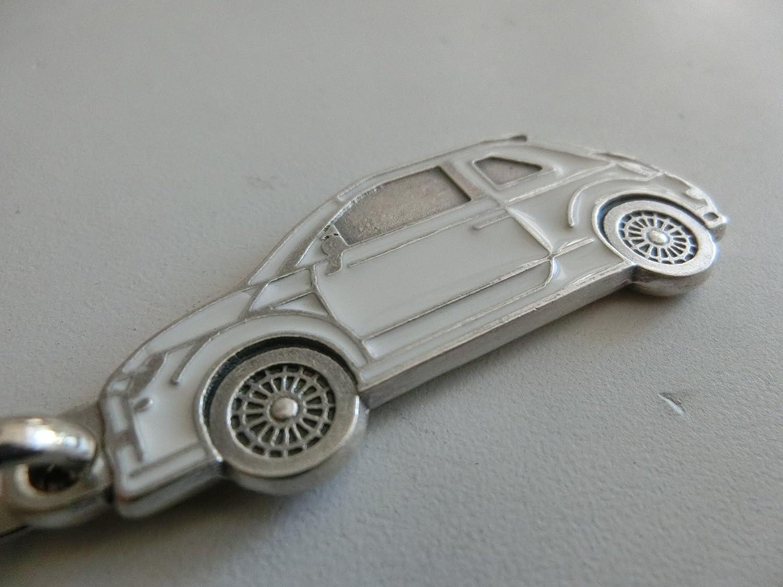 GTBItaly Porte-Cl/és Fiat 500 Tuning Argent/é vernis blanc