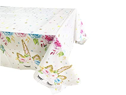 Amazon Com Unicorn Party Supplies Unicorn Plastic Table Cover 51