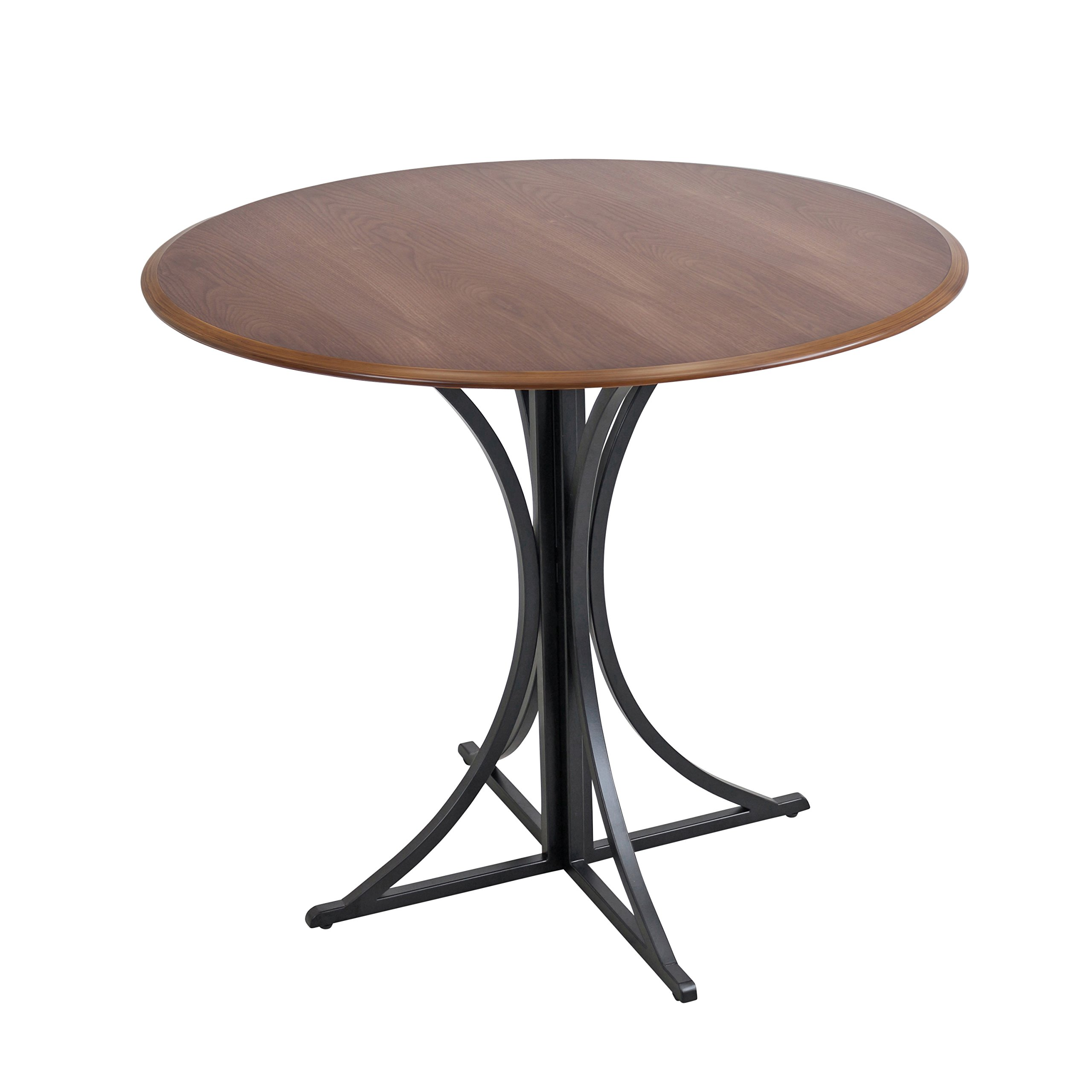 WOYBR DT WL+BK Wood, Metal Boro Dining Table