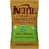 Kettle Brand Potato Chips, Krinkle Cut Dill Pickle, 8.5 Ounce