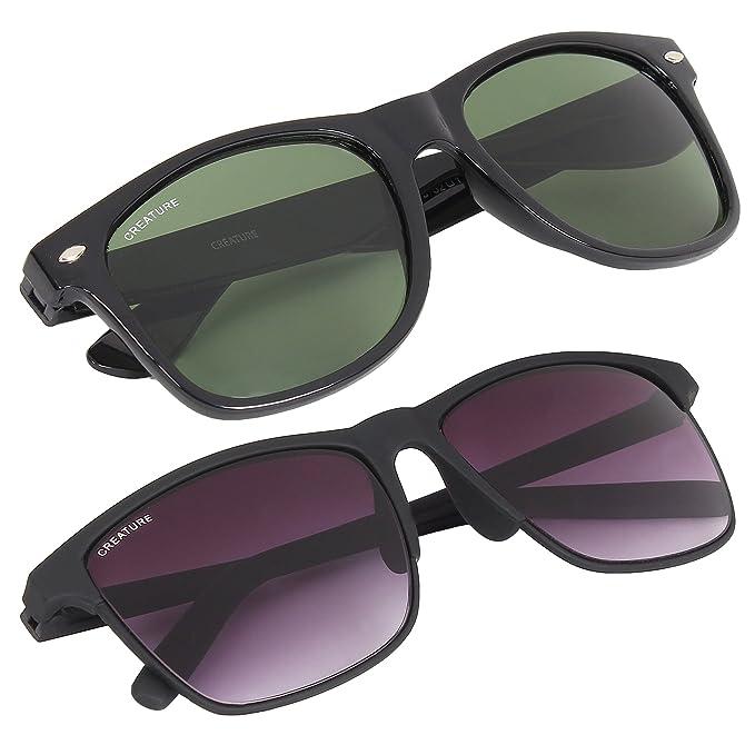 9c8ebced9eb Creature Wayfarer Glossy   Matte Finish Unisex Sunglasses(Lens-Green Purple