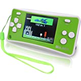 """WOLSEN 2.5"""" LCD Portable Handheld Game Console Speaker (3 X AAA) 152 in 1 Games (Green+ White)"""