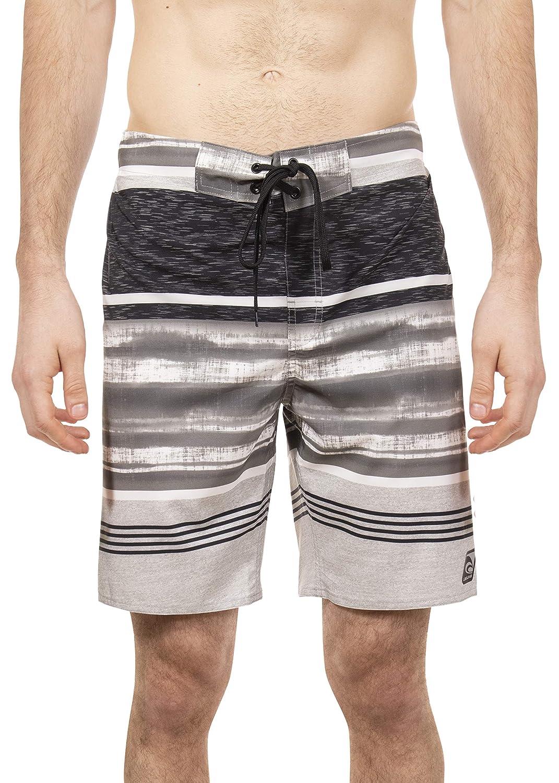 LAGUNA Mens Hibiscus Print Stretchable Camo Elastic Boardshort Swim Trunks