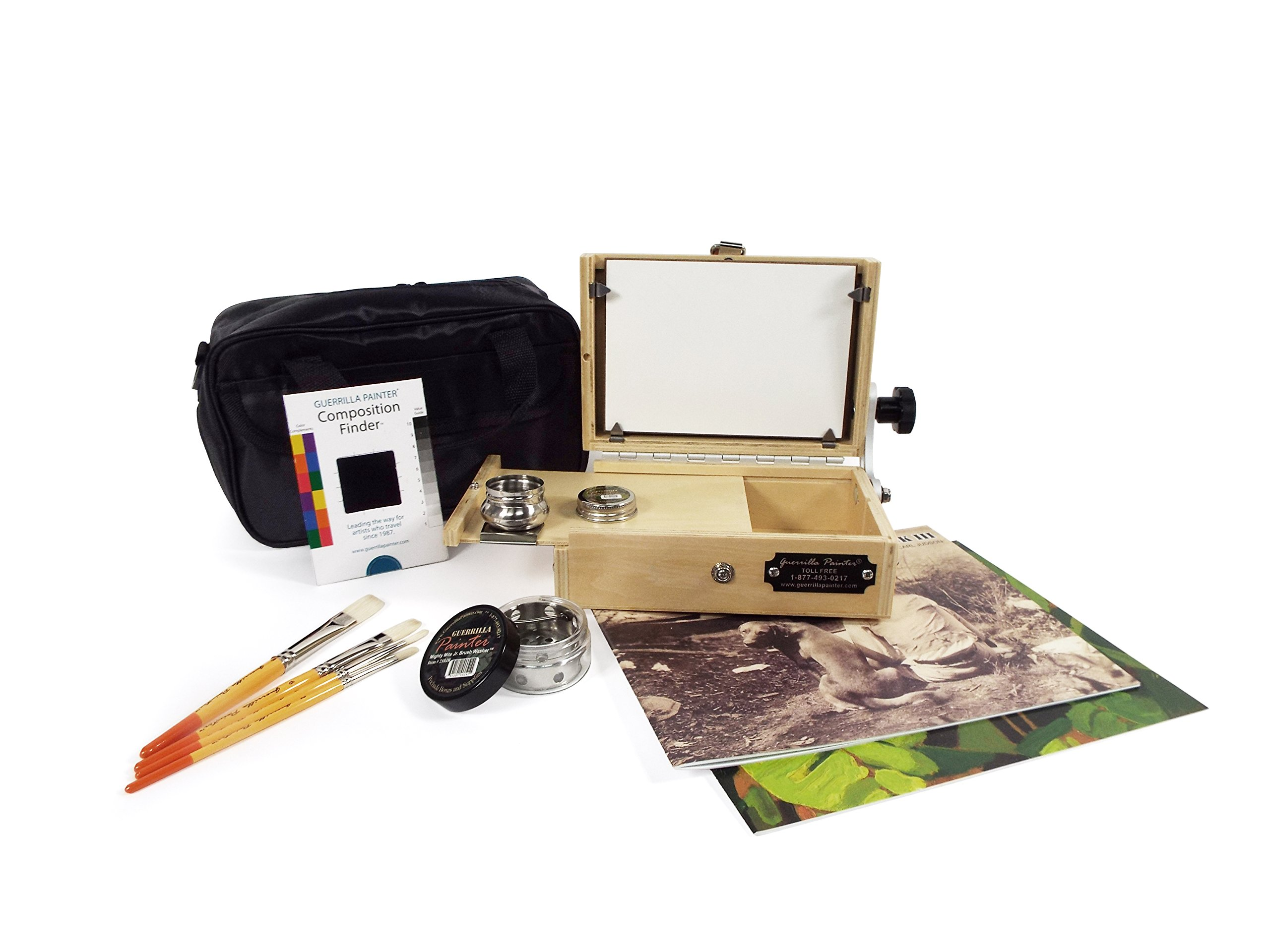 Guerrilla Painter 5 by 7 Pocket Box Oil and Acrylic Plein Air Kit by Guerrilla Painter