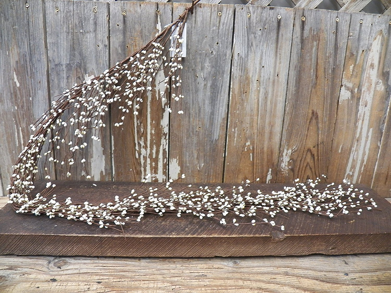 Gorgeous  Primitive Cream/Off-White 55 Inch Pip Rice Berry GARLAND Flexible/ Bendable