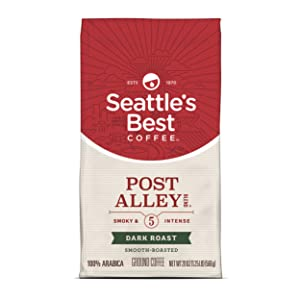 Seattle's Best Coffee Post Alley Blend (Previously Signature Blend No. 5) Dark Roast Ground Coffee, 20 Ounce (Pack of 1)