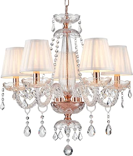 Saint Mossi Rose Gold K9 Crystal Chandelier Lighting LED Ceiling Light Fixture Pendant Lamp
