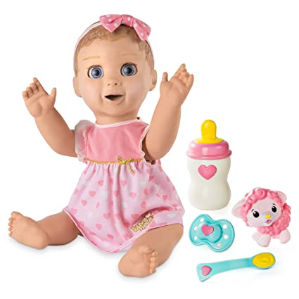 4e43f6014e06 Amazon.com: Luvabella Blonde Hair Interactive Baby Doll with Expressions &  Movement (Ages 3+): Toys & Games