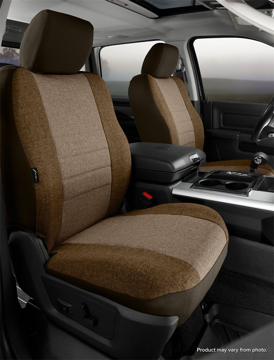 Fia OE37-34 TAUPE Custom Fit Front Seat Cover Bucket Seats - Tweed, (Taupe) by FIA (Image #1)