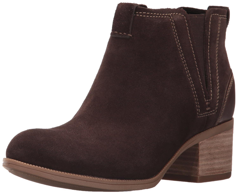 CLARKS Women's Maypearl Daisy Ankle Bootie B01MY0KFUK 5.5 B(M) US|Dark Brown
