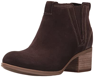 21183e7e5 CLARKS Women s Maypearl Daisy Ankle Bootie Dark Brown 5 ...