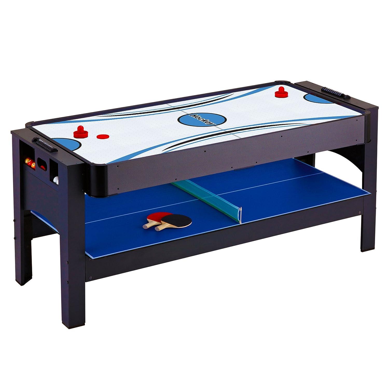 Amazon.com : Hathaway Triple Threat 3 In 1 Air Hockey, Billiards Table  Tennis Table, 6 Feet : Combination Game Tables : Sports U0026 Outdoors