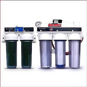LiquaGen Aquarium Reef Reverse Osmosis RO/DI Water Filter System