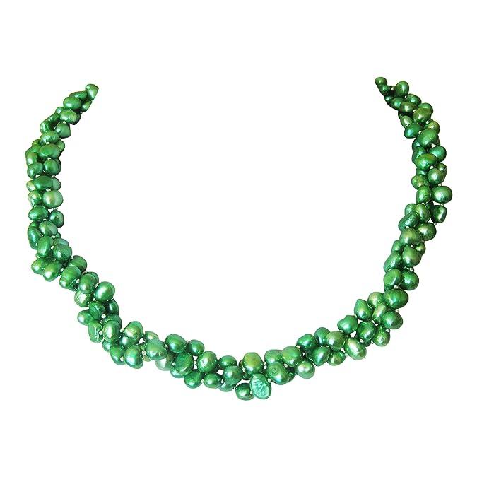 d3f15efd3934 TreasureBay chapado en plata barroca Perlas agua dulce perla  Amazon.es   Joyería