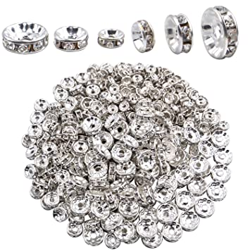 Silver Plated Smooth Round Spacer Beads Assorted Size Quantity 2mm 4mm 6mm 8mm