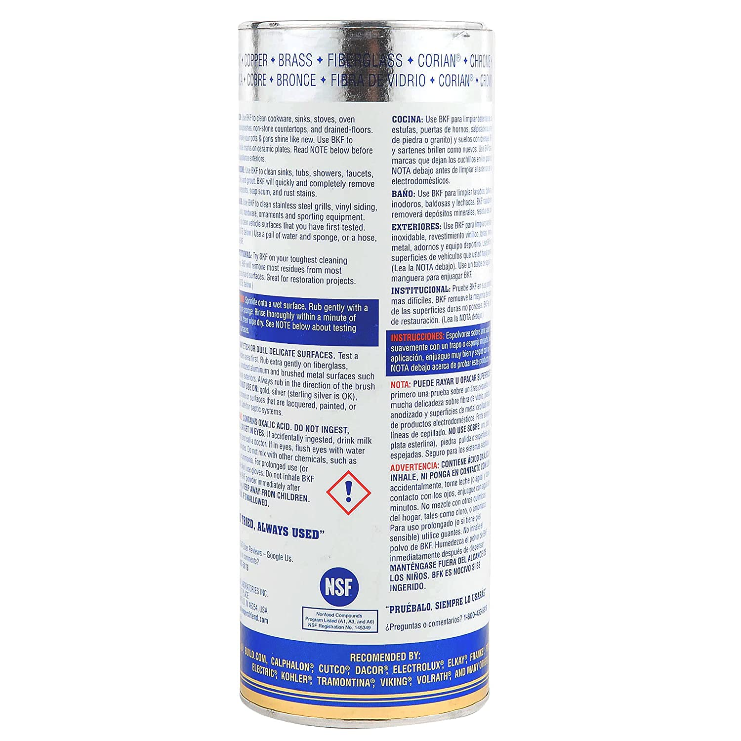 Amazon.com: Bar Keepers Friend Powdered Cleanser 21-Ounces (4-Pack): Health & Personal Care