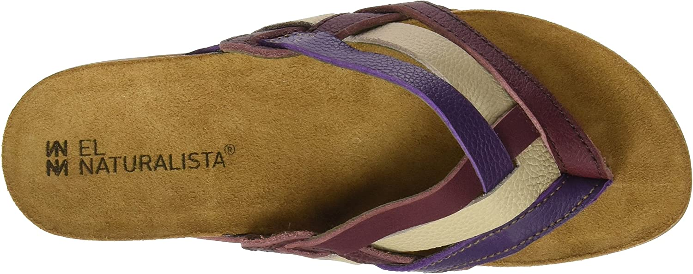 El Naturalista Nf48 Soft Grain Zumaia, T-Strap Sandals Femme Multicolore Rioja Mixed