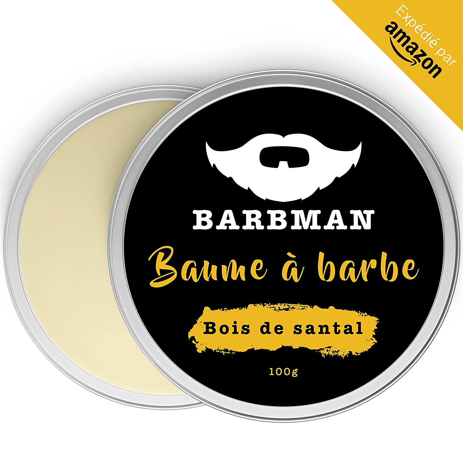 BARBMAN: Beard balm (100ml) enriched with Jojoba oil and cocoa butter to moisturize and nourish skins and beards. Discipline the beard by bringing it brightness and softness. A gift for bearded men.