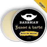 BARBMAN: Balsamo per Barba (100 ml) arricchito con olio di Jojoba e burro di cacao per idratare e nutrire la pelle e la barba. Disciplina la barba dandole luminosità e morbidezza. Regalo per uomini barbuti. (Legno di Sandalo)