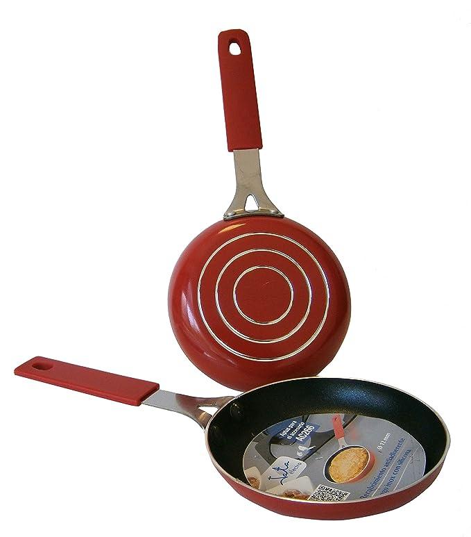Jata R266 Juego de Sartenes para El Accesorio Ac266, Aluminio, Rojo, 12 cm, 2 Unidades: Amazon.es: Hogar