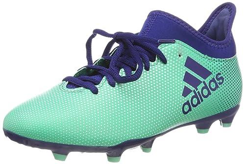 cheap for discount b52c9 7223f adidas X 17.3 FG J, Scarpe da Calcio Bambino, Multicolore (Aergrn Uniink
