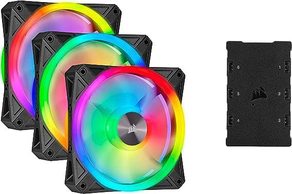 Corsair iCUE QL120 RGB, Ventilador LED RGB de 120 mm ...