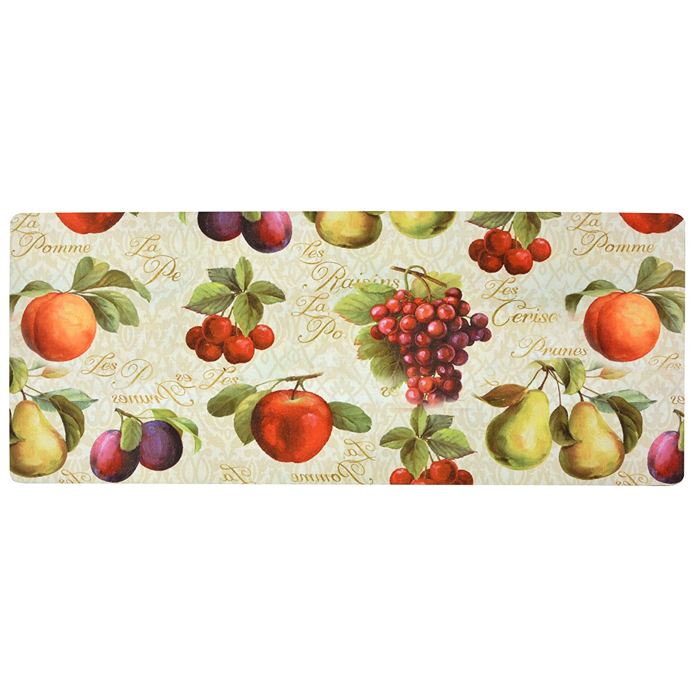 Brandream Vintage Non Skid Floor Mat Waterproof Laundry Room Mat Kitchen Runner Rugs Bathroom Carpets 20x48,Colorful Fruits